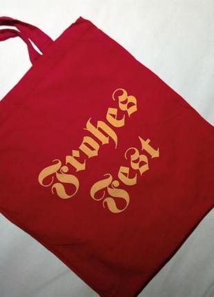 Текстильная сумка, красная.