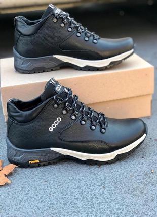Мужские кожаные ботинки. зима.