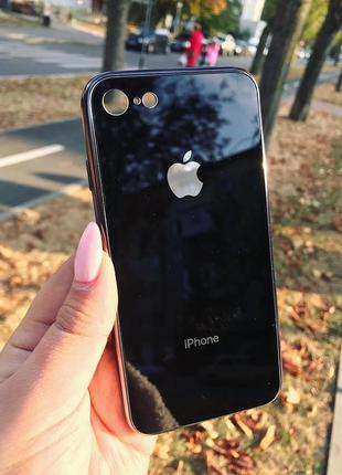 Скляний чохол на айфон glass case для iphone