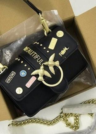 Женская сумка pinko mini пинко черный