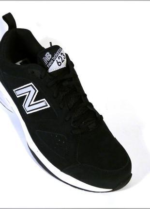 New balance 623v3 черные мужские черные кроссовки оригинал замша