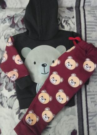 Новый теплый костюм с мишками. костюм на малыша