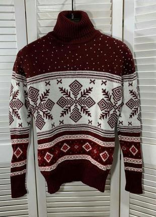 Мега крутой и теплый свитер. новогодние свитера