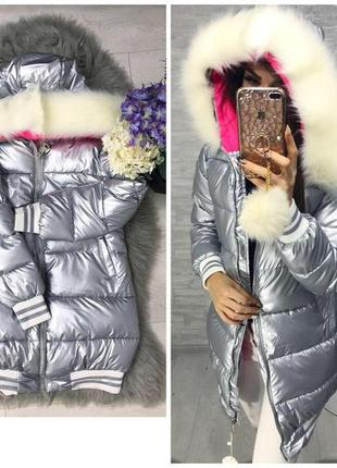 ✅ куртка с мехом матовое в продаже куртка