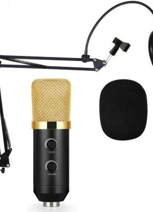 Студийный микрофон Music D.J. M800U со стойкой и ветрозащитой Bla