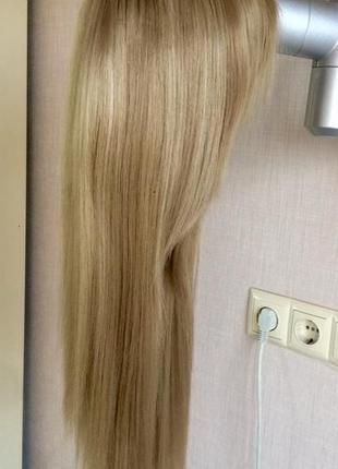 Парик светло русый с длинными густыми волосами