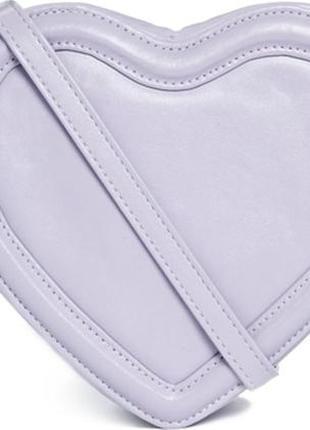 Ніжно фіолетова сумка сердечко кроссбоди asos № 41
