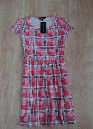 Платье в клетку new look