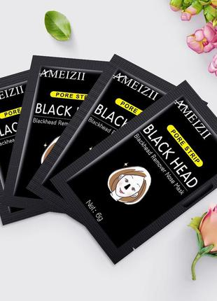 Черная маска ameizii pore strip black head remover nose mask✨