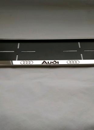 Рамка для номера Audi. Номерная рамка, подномерник.