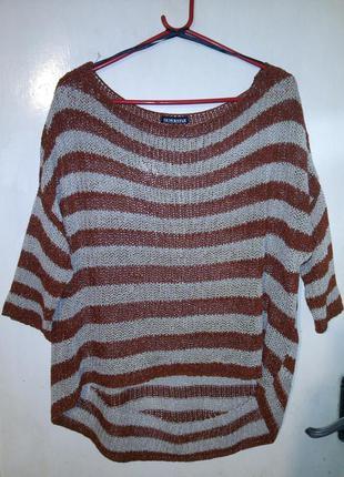 Стильная,блуза-джемпер с удлинённой спинкой,большого размера,о...