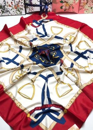 Легкий шёлковый платок,яркий,качественный