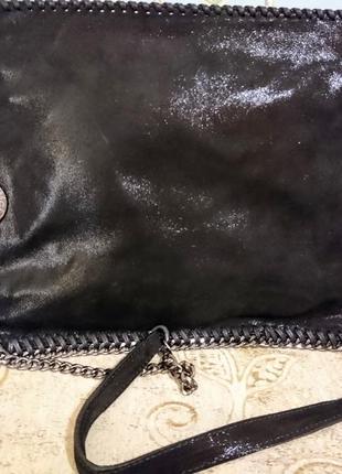 Чёрная кожаная сумочка stella mccartney