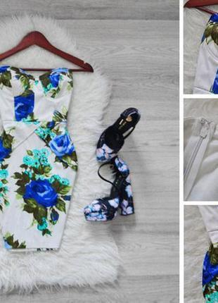 Дуже гарне плаття в квіти бюстьє river island № 8