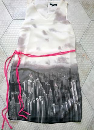 Оригинальное летнее платье миди