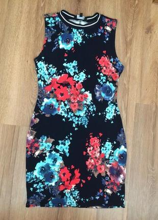 Плаття футболка спортивне в квіти в обтяжку new look № 12