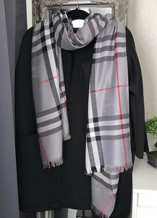 Шикарный кашемировый палантин шарф шаль burberry