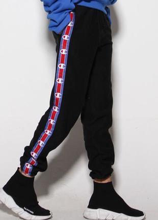 Зимние очень теплые спортивные штаны Champion