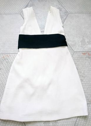 Белое платье мини м zara