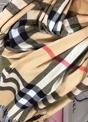 Кашемировый палантин шарф шаль burberry