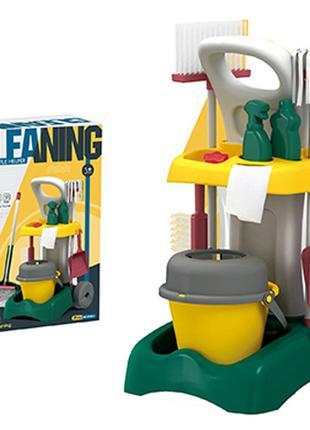 Детский игровой набор для уборки с тележкой 8858-1