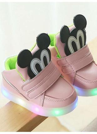 Кроссовки детские mickey розовые