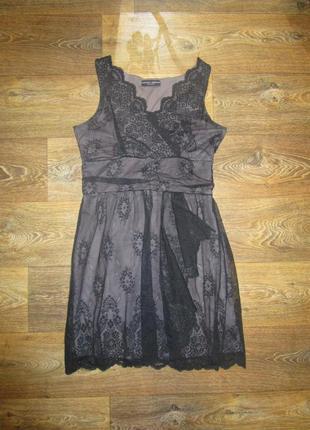 Шок!! шикарное платье с кружевом