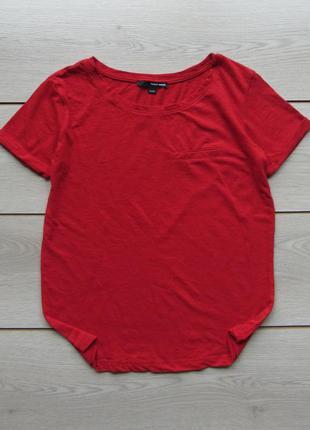 Яркая красная футболка от tally weijl