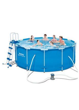 Каркасный бассейн Bestway 56420 размер 366х122 с картриджем и ...