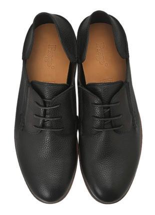 Повседневные мужские туфли от prego, кожа, шкіряні туфлі.