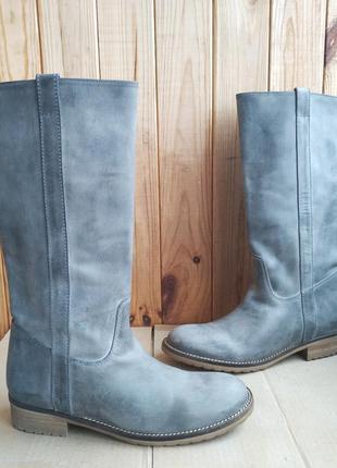 Новые полностью кожаные стилизованные сапоги hip shoe style ге...