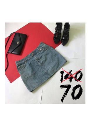 Джинсовая мини юбка юбочка джинс. размер s