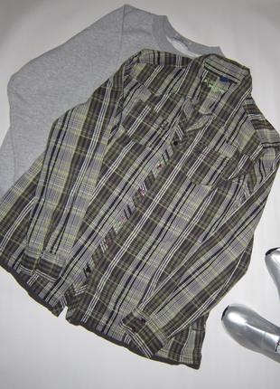 Хлопковая свободная трендовая клетчатая рубашка sale