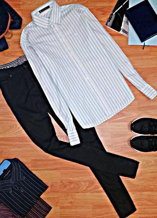 Мужская стильная молодежная рубашка - сорочка в полоску adam f...