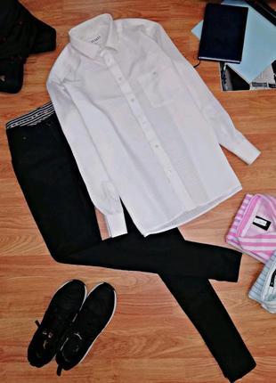 Мужская белая нарядная рубашка - сорочка - классический крой -...