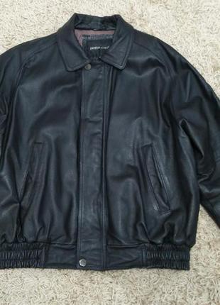 Куртка мужская кожаная утепленная