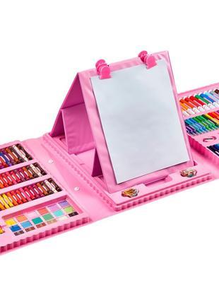 Набор для рисования и творчества с мольбертом в чемоданчике 20...