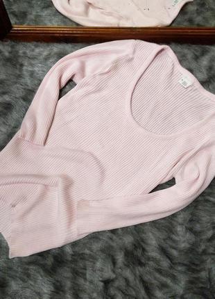 Джемпер пуловер тонкий свитерок в рубчик