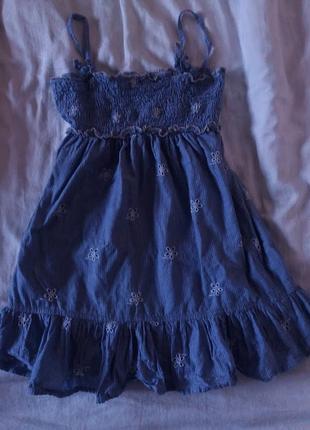 Модное летнее платье на девочку 3 года 100 см 100% cotton pren...
