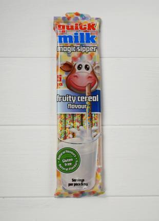 Трубочки быстрое какао фруково-злаковый вкус Quick Milk magic ...