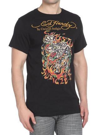 Дизайнерская футболка с тигром эд харди ed hardy