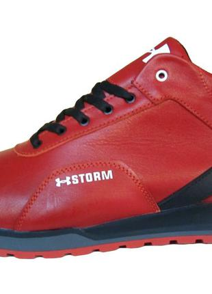 Мужские кожаные ботинки кроссовки