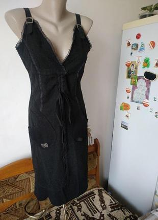 Очень теплое длинное шерстяное платье сарафан  38 р состояние ...