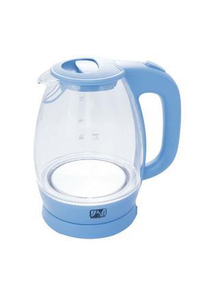Электрический чайник стеклянный PROMOTEC PM-824 2250W Blue   О...