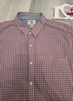 Рубашка мужская в клетку timberland большой размер