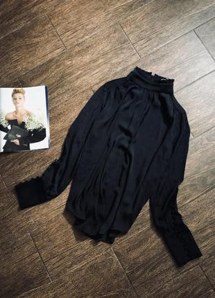 Красивая черная блуза известного бренда second female