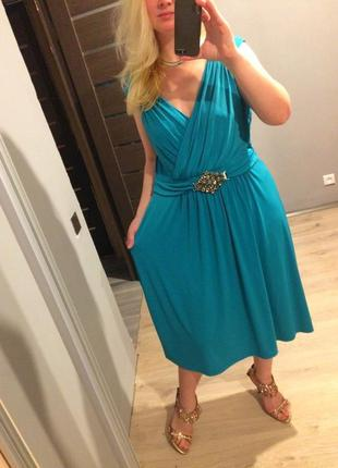 Распродажа платье цвета тиффани р.20