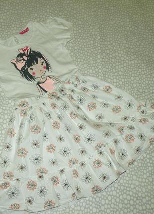Платье с девочкой 7-8 лет