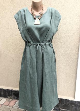 Льняное платье,сарафан,этно бохо стиль, большой размер