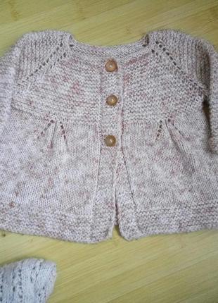 Вязаная одежда для девочки, шерстяной кардиган, кофта, туника,...